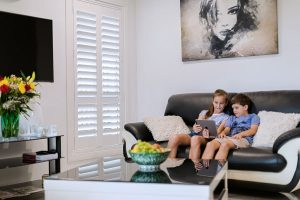 EasyAS Adjustable DIY Plantation Shutters - Family Safe