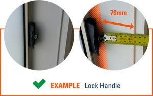 How to Measure Windows for Shutters - Lock Handle