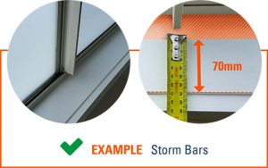 How to Measure Windows for Shutters - Storm Bars