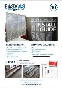 Sliding Shutter - Install Guide Cover